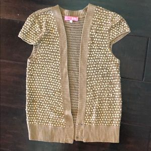 Urban Outfitters LUX brand caplet gold